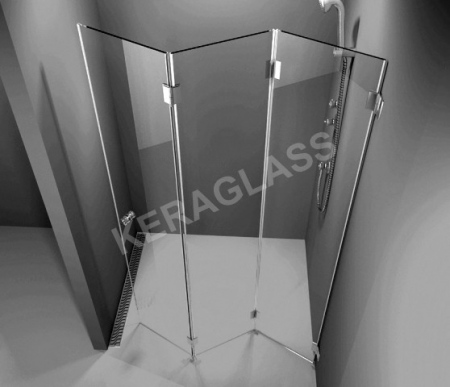 Folding shower screen Paris 3