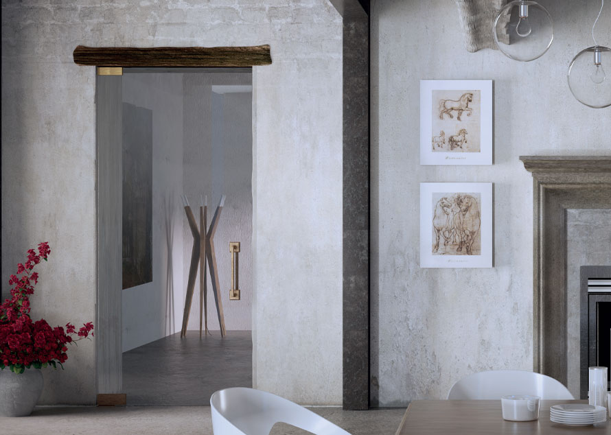Антични стъклени врати