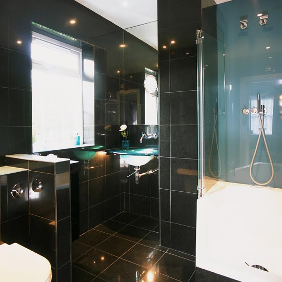 Underneath The Space Of Surplus Eaves, A Functional Shower Area Can Be Set  Up. Using Large Size Floor Tiles For Both The Floor And Walls Helps To  Increase ...